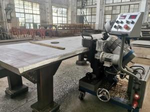 GMMA-80R,100L,100K beveling machine for Petrochemical SS304 steel plate